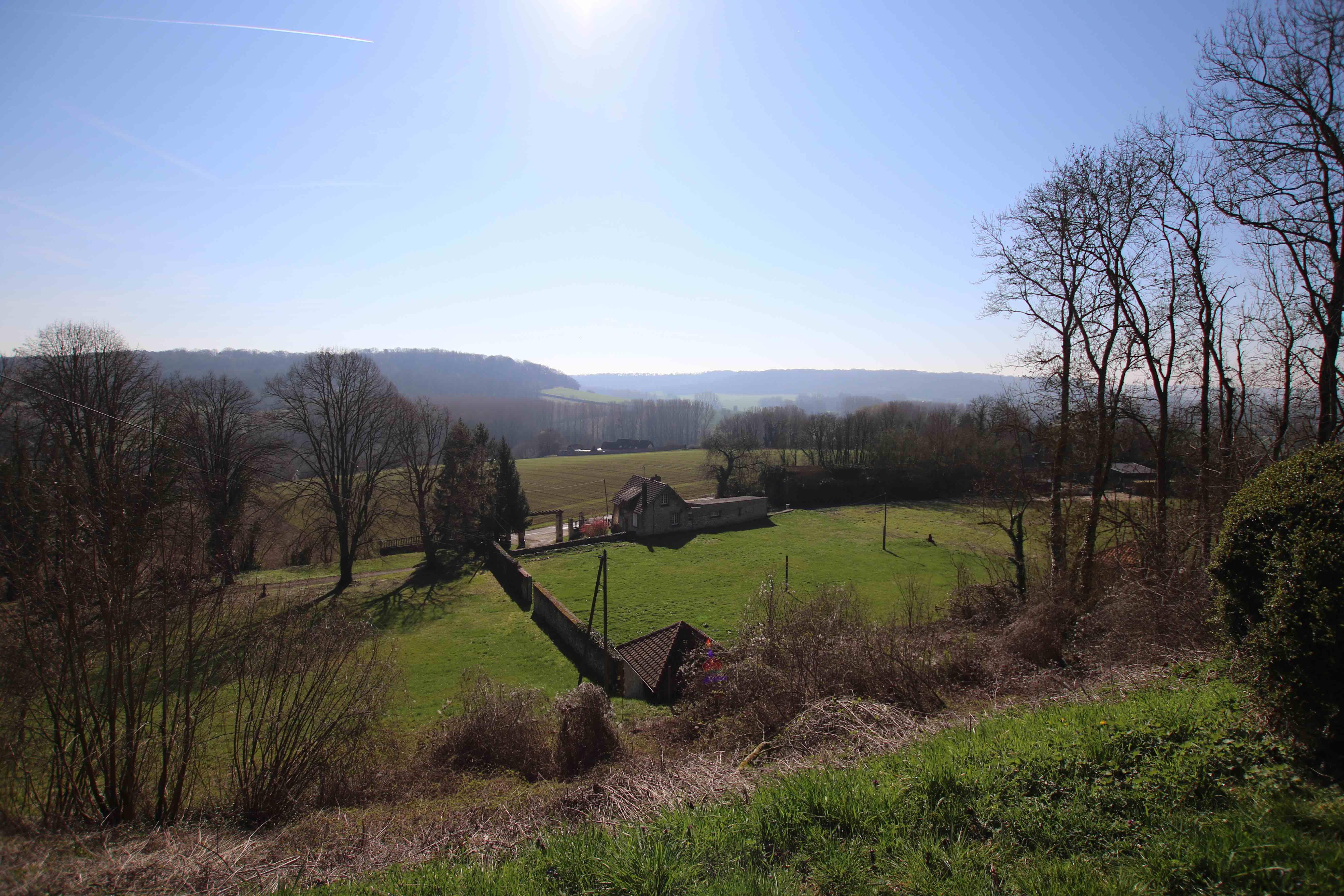 Panorama sur la campagne picarde